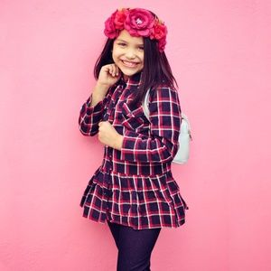 Other - NEW 2 pieces set kids checkered top and denim
